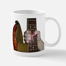 hand bass neck grab Mug