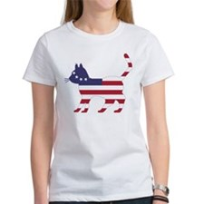Betsy Ross Flag Cat Icon T-Shirt