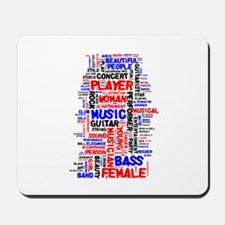Female bass player wordle 1 red blue black Mousepa