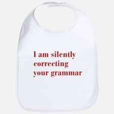silently-correcting-bod-red Bib