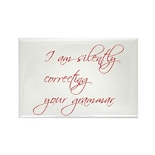silently-correcting-script Rectangle Magnet (10 pa
