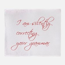 silently-correcting-script Throw Blanket