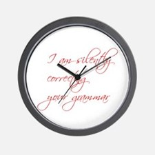 silently-correcting-script Wall Clock