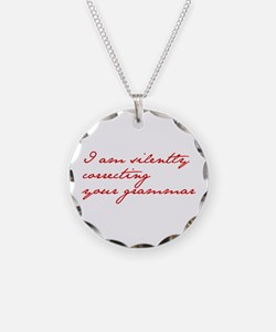 silently-correcting-jane-red Necklace