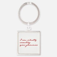 silently-correcting-jane-red Keychains