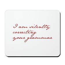 silently-correcting-jane-red Mousepad