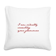 silently-correcting-jane-red Square Canvas Pillow