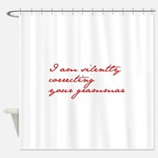 silently-correcting-jane-red Shower Curtain