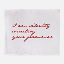 silently-correcting-jane-red Throw Blanket