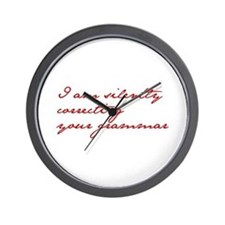 silently-correcting-jane-red Wall Clock