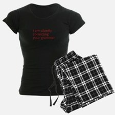 silently-correcting-opt-red Pajamas