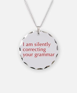 silently-correcting-opt-red Necklace