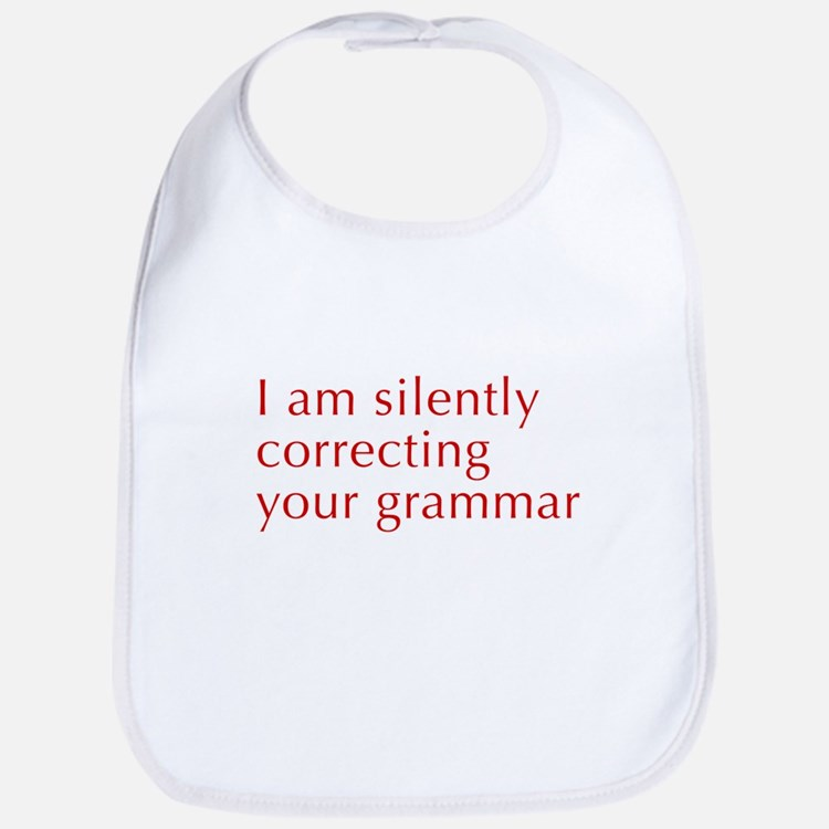 silently-correcting-opt-red Bib