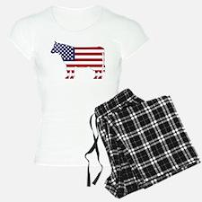 US Flag Cow Icon Pajamas