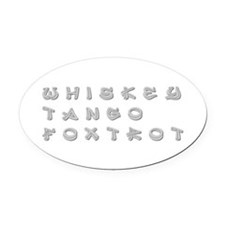 WTF-inner Oval Car Magnet