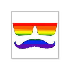 """Mustache pride Square Sticker 3"""" x 3"""""""