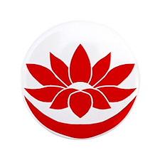 "Buddhist Lotus Red 3.5"" Button"