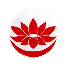 """Buddhist Lotus Red 3.5"""" Button (100 pack)"""