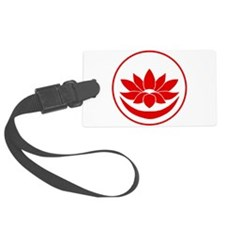 Buddhist Lotus Red Luggage Tag