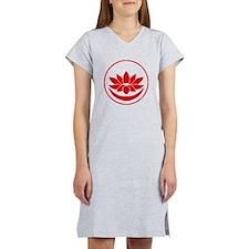 Buddhist Lotus Red Women's Nightshirt