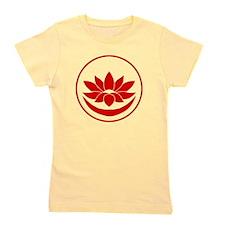 Buddhist Lotus Red Girl's Tee
