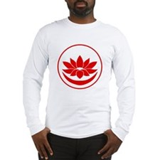 Buddhist Lotus Red Long Sleeve T-Shirt
