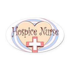 Unique Hospice nurse Oval Car Magnet