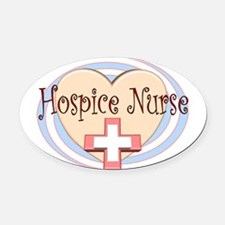 Unique Hospice Oval Car Magnet