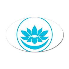 Buddhist Lotus Blue Wall Sticker
