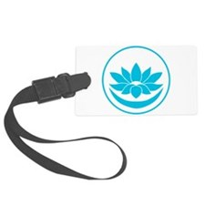 Buddhist Lotus Blue Luggage Tag