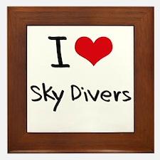 I love Sky Divers Framed Tile