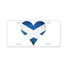 Scotland heart Aluminum License Plate