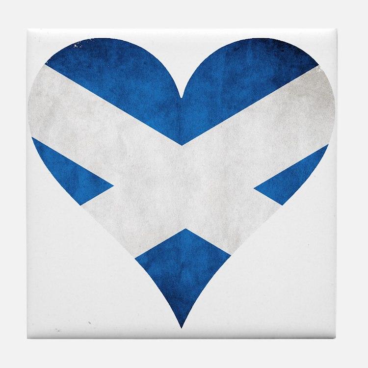 Scotland heart Tile Coaster