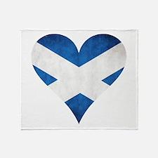 Scotland heart Throw Blanket