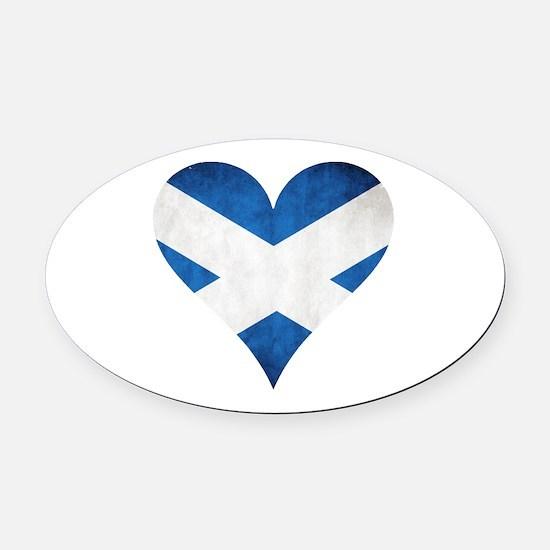 Scotland heart Oval Car Magnet