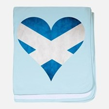 Scotland heart baby blanket