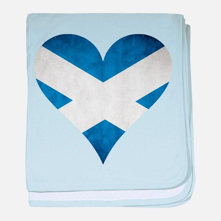 Scotland heart baby blanket