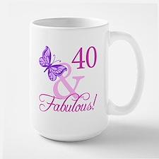 Fabulous 40th Birthday Large Mug