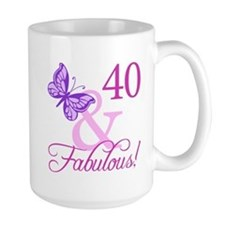 Fabulous 40th Birthday Mug