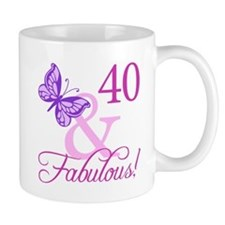 Fabulous 40th Birthday Small Mug