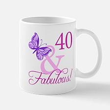 Fabulous 40th Birthday Small Small Mug