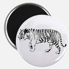 """Tiger silhouette 2.25"""" Magnet (100 pack)"""