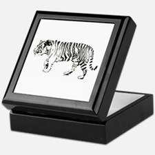 Tiger silhouette Keepsake Box
