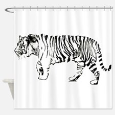 Tiger silhouette Shower Curtain