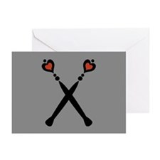 Royal Scepters Motif Greeting Cards (Pk of 20)