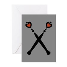 Royal Scepters Motif Greeting Cards (Pk of 10)