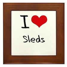 I love Sleds Framed Tile