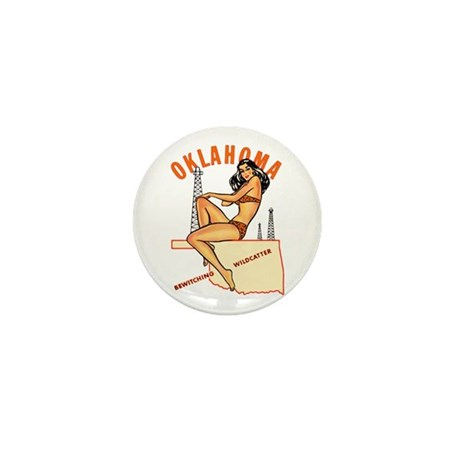 Oklahoma Pinup Mini Button (10 pack)