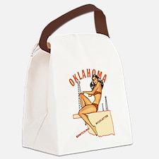 Oklahoma Pinup Canvas Lunch Bag