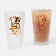 Oklahoma Pinup Drinking Glass